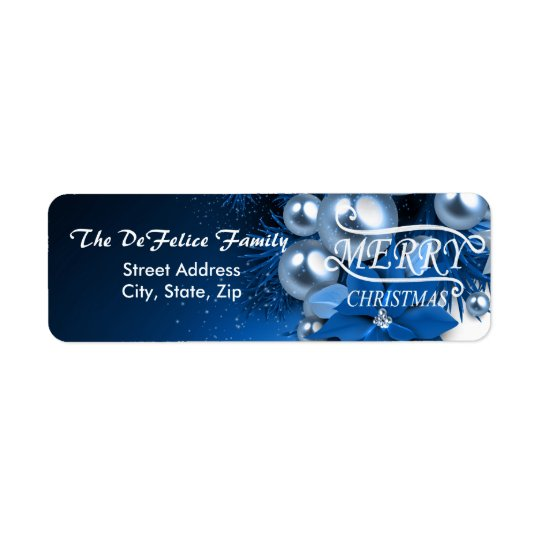 Christmas Holiday Blue Pearl Ornaments