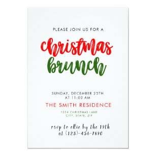 Christmas Holiday Brunch Invitation Card