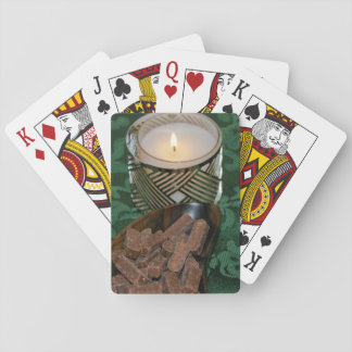Christmas Holiday Candle and Chocolate Candies Poker Deck