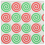 Christmas Holiday Candy Spiral Swirls Red Green Fabric