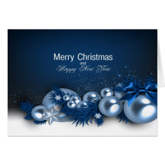 Christmas Holiday Card - Blue Pearl1  Personalize