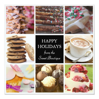 Christmas Holiday Cards for Bakeries 13 Cm X 13 Cm Square Invitation Card