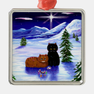 Christmas Holiday Cat Mouse Christian Religious Christmas Ornament