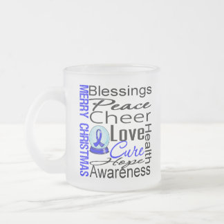 Christmas Holiday Colon Cancer Collage Mugs