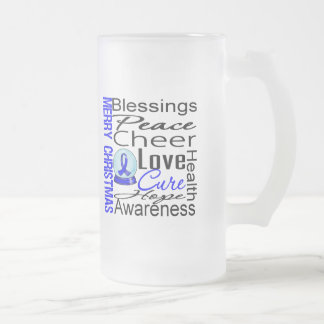 Christmas Holiday Colon Cancer Collage Coffee Mugs