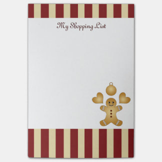 Christmas Holiday Cookies Red Stripes Cute Post-it® Notes