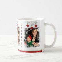 Christmas Holiday Custom Photo Mug