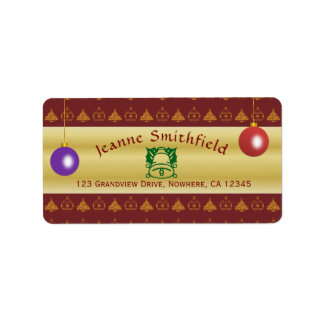 Christmas/Holiday Customisable Address Labels