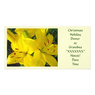 Christmas Holiday Dinner at Grandma's House! Personalized Photo Card
