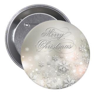 Christmas Holiday Elegant Snowflake Button