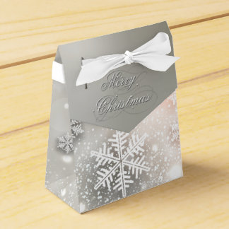 Christmas Holiday Elegant Snowflake Favour Box