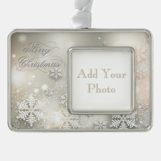 Christmas Holiday Elegant Snowflake Frame Ornament
