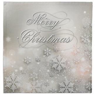 Christmas Holiday Elegant Snowflake Napkin