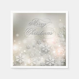 Christmas Holiday Elegant Snowflake Napkin Disposable Serviette