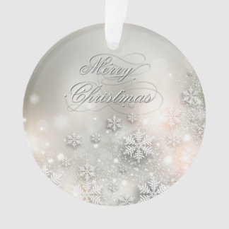 Christmas Holiday Elegant Snowflake Ornament