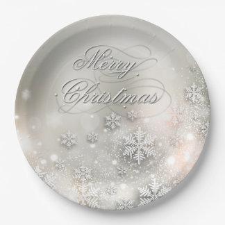 Christmas Holiday Elegant Snowflake Plate