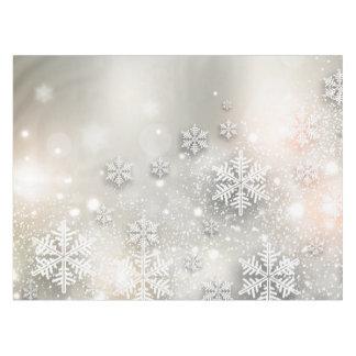 Christmas Holiday Elegant Snowflake Tablecloth