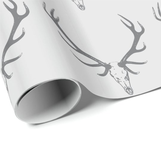 Christmas Holiday Elk Custom Monogram Wrapping Paper