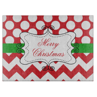 Christmas Holiday Family Name Cutting Board