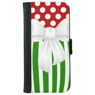 Christmas Holiday Festive iPhone 6 Wallet Case