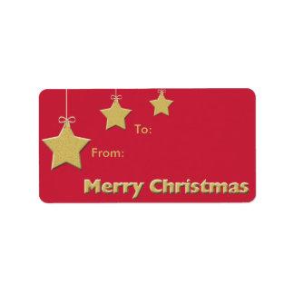 Christmas Holiday Gift Tag -- Christmas Stars