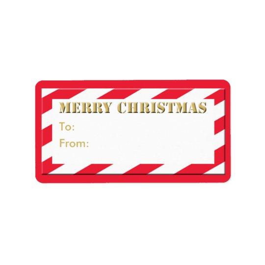 Christmas Holiday Gift Tag Merry Christmas