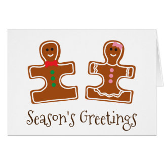 Christmas Holiday Ginger Puzzle Autism Awareness Greeting Card