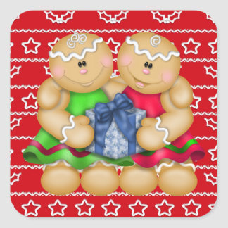 Christmas Holiday Gingerbread cartoon sticker