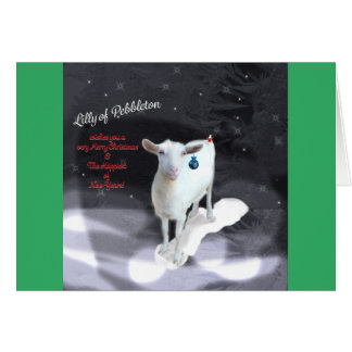 Christmas Holiday Greeting Card; Inside Blank Card