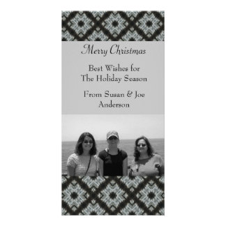 Christmas Holiday Grey pattern Personalised Photo Card