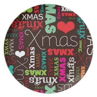 Christmas holiday home deco kitchen plate
