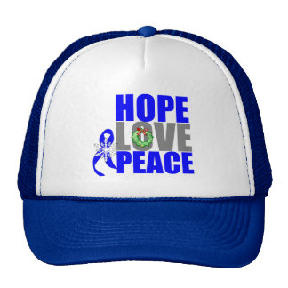 Christmas Holiday Hope Love Peace Colon Cancer Hats