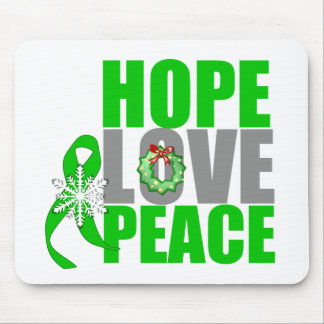 Christmas Holiday Hope Love Peace Kidney Cancer Mouse Pad