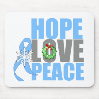Christmas Holiday Hope Love Peace Prostate Cancer Mouse Pad