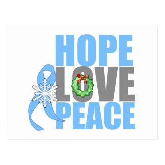 Christmas Holiday Hope Love Peace Prostate Cancer Postcard