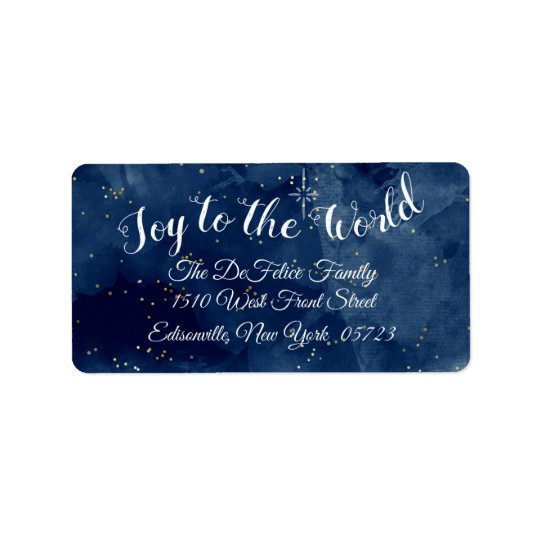 Christmas Holiday - Joy To The World Label