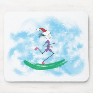 Christmas Holiday Lady Runner Mousepad