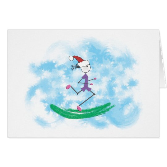 Christmas Holiday Lady Runner Note Card