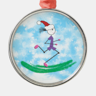 Christmas Holiday Lady Runner © Running Christmas Ornament