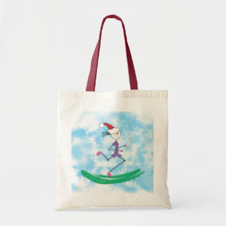 Christmas Holiday Lady Runner © Tote Bag