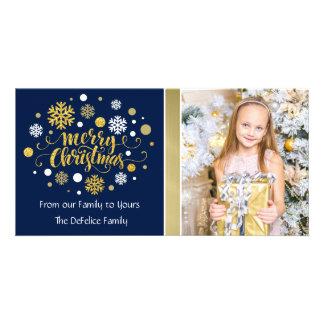 Christmas Holiday - Merry Christmas Shimmer Customized Photo Card