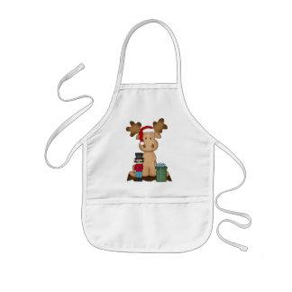 Christmas Holiday Moose kids apron