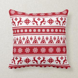 Christmas Holiday Nordic Pattern Cozy Cushion
