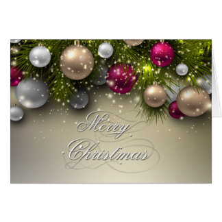 Christmas Holiday Ornaments - Multi Greeting Card