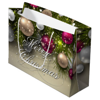 Christmas Holiday Ornaments - Multi Large Gift Bag