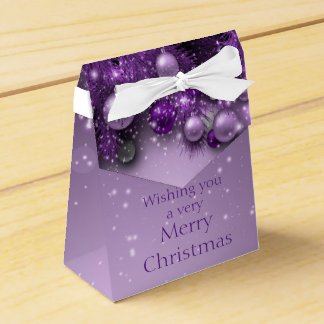 Christmas Holiday Ornaments - Purples Favour Box