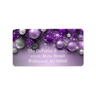 Christmas Holiday Ornaments - Purples Label