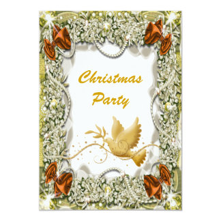 Christmas holiday party office peace 13 cm x 18 cm invitation card
