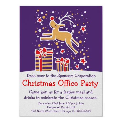 Christmas holiday party office poster