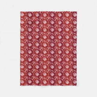 christmas holiday pattern fleece blanket